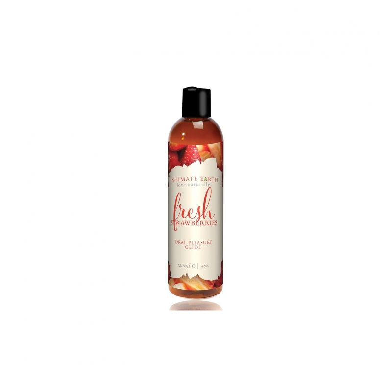 Intimate Earth - Fresh Strawberries Flavored Lubricant 120 ml