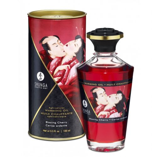 Shunga - Aphrodisiac Oil Blazing Cherry 100 ml