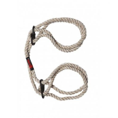 Kink Hogtied Bind & Tie 6mm Hemp Wrist or Ankle Cuffs Natural