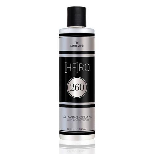 Krem do golenia dla panów - Sensuva HE(RO) 260 Male Pheromone Shave Cream 236 ml