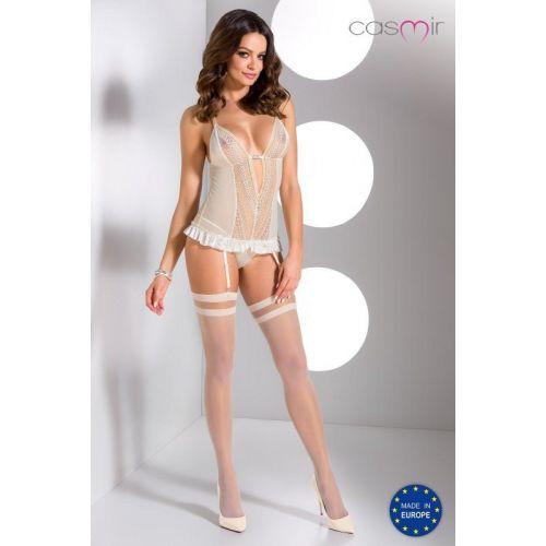 Bielizna-CLARISSE CORSET cream S/M - Casmir