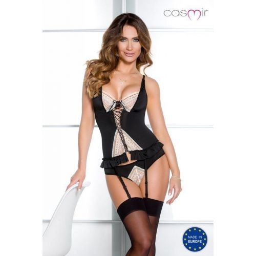 Bielizna-CONNIE CORSET black S/M - Casmir