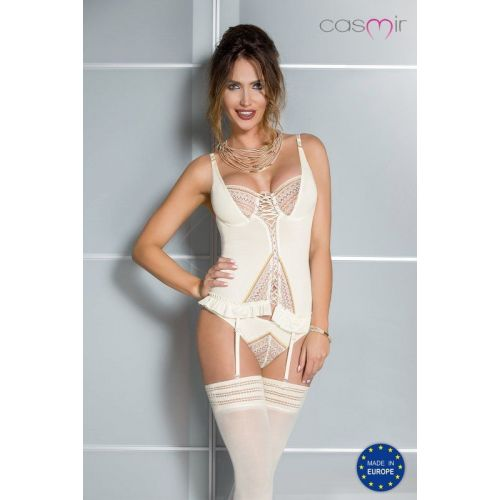 Bielizna-CONNIE CORSET cream L/XL - Casmir