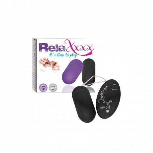 Wibrujące jajko RelaXxxx czarne