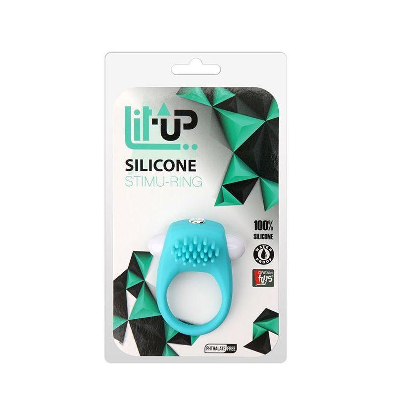 Pierścień-LIT-UP SILICONE STIMU RING 5 BLUE