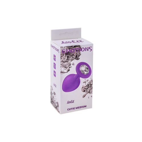 Plug-Anal Plug Emotions Cutie Medium Purple clear crystal
