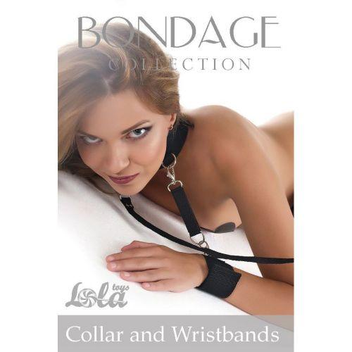 Wiązania-Bondage Collection Collar and Wristbands Plus Size