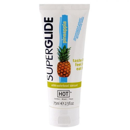 Żel-HOT Superglide PINEAPPLE- 75ml edible lubricant waterbased