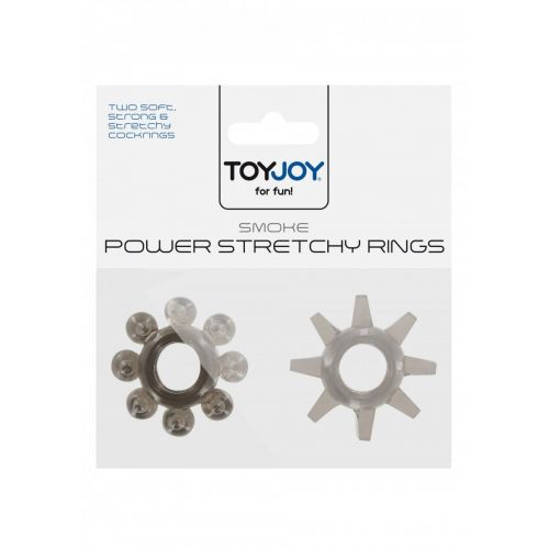Pierścień-POWER STRETCHY RINGS SMOKE 2PCS