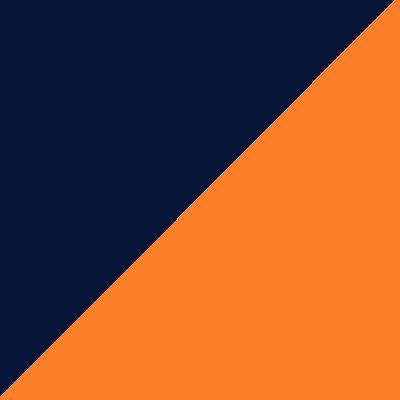 Granatowo/pomarańczowy
